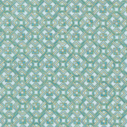 Robert Kaufman Fabrics: SRKM-15836-4 BLUE from Grand Majolica
