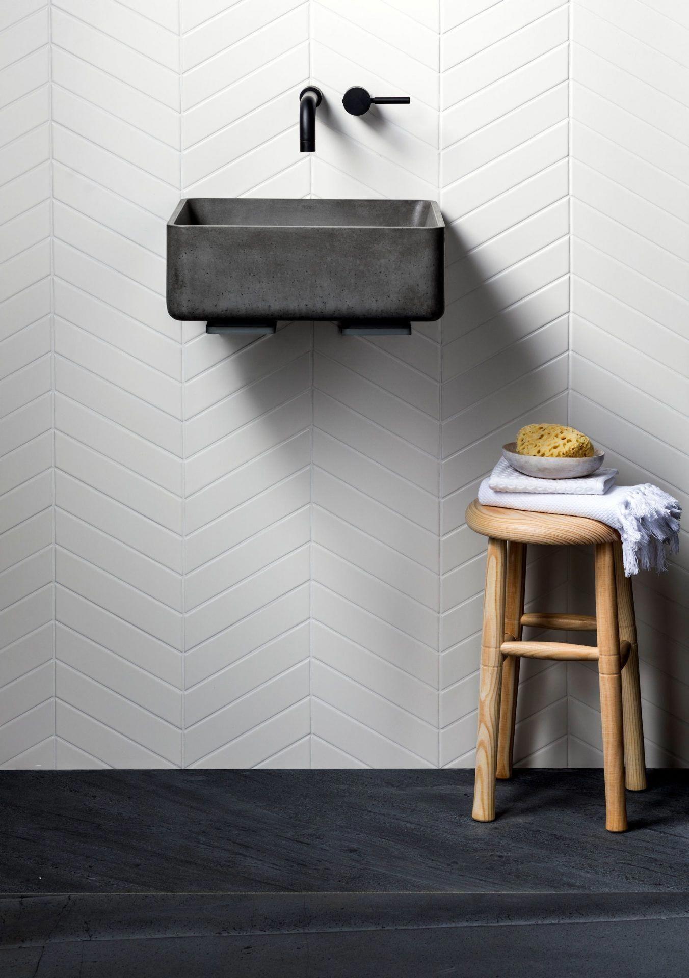 Monastir White Matt Chevron Decorative Glazed Tiles Mandarin Stone Whitetiledbathroom Chevron Tiles Bathroom Mandarin Stone Bathroom Interior Design