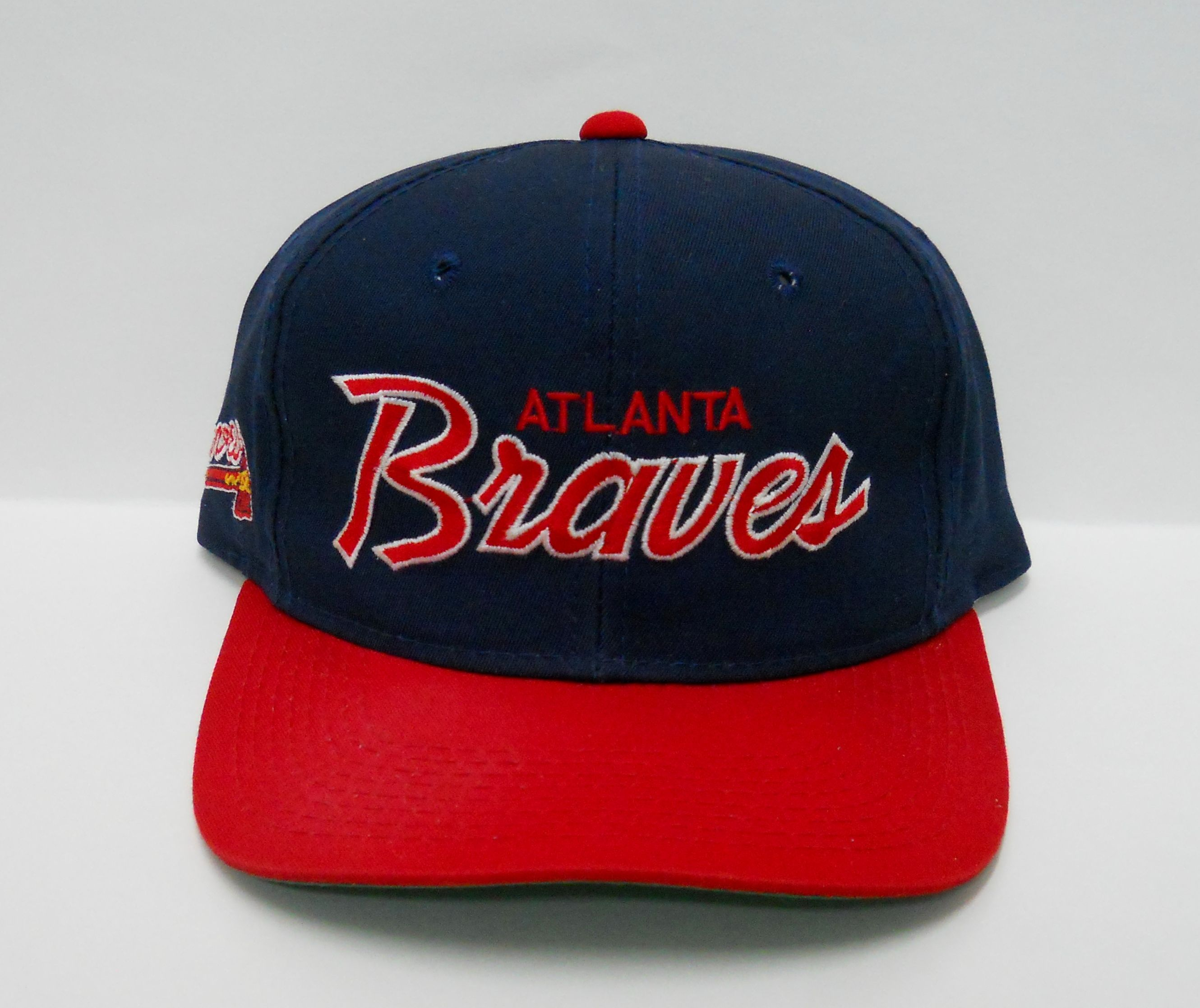 Vintage Early 90s Atlanta Braves The Twill Snapback By Sports Specialties Pre Owned Some Fading On The Left Of Bill Atlanta Braves Atlanta Braves