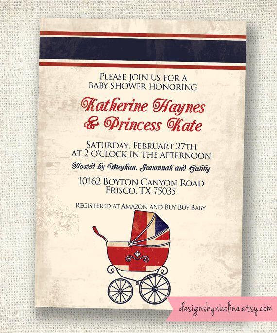 Union Jack Vintage Royal Baby Shower Pram By