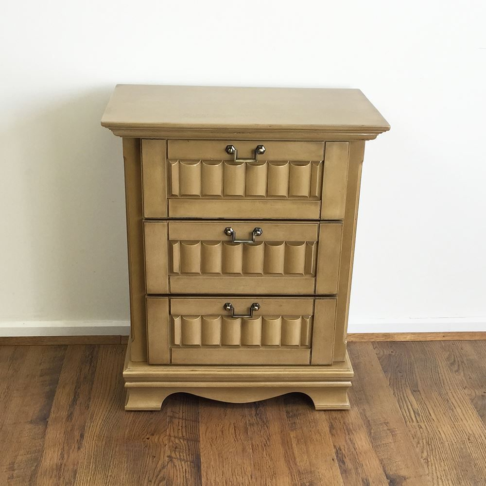 Details About Solid Rubber Wood Bedside Table Bedroom