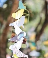 Feather nest/baby bird baby shower inspiration