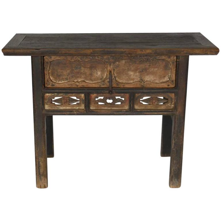 Qing Dynasty Console Table With Drawer Furnish Table Table