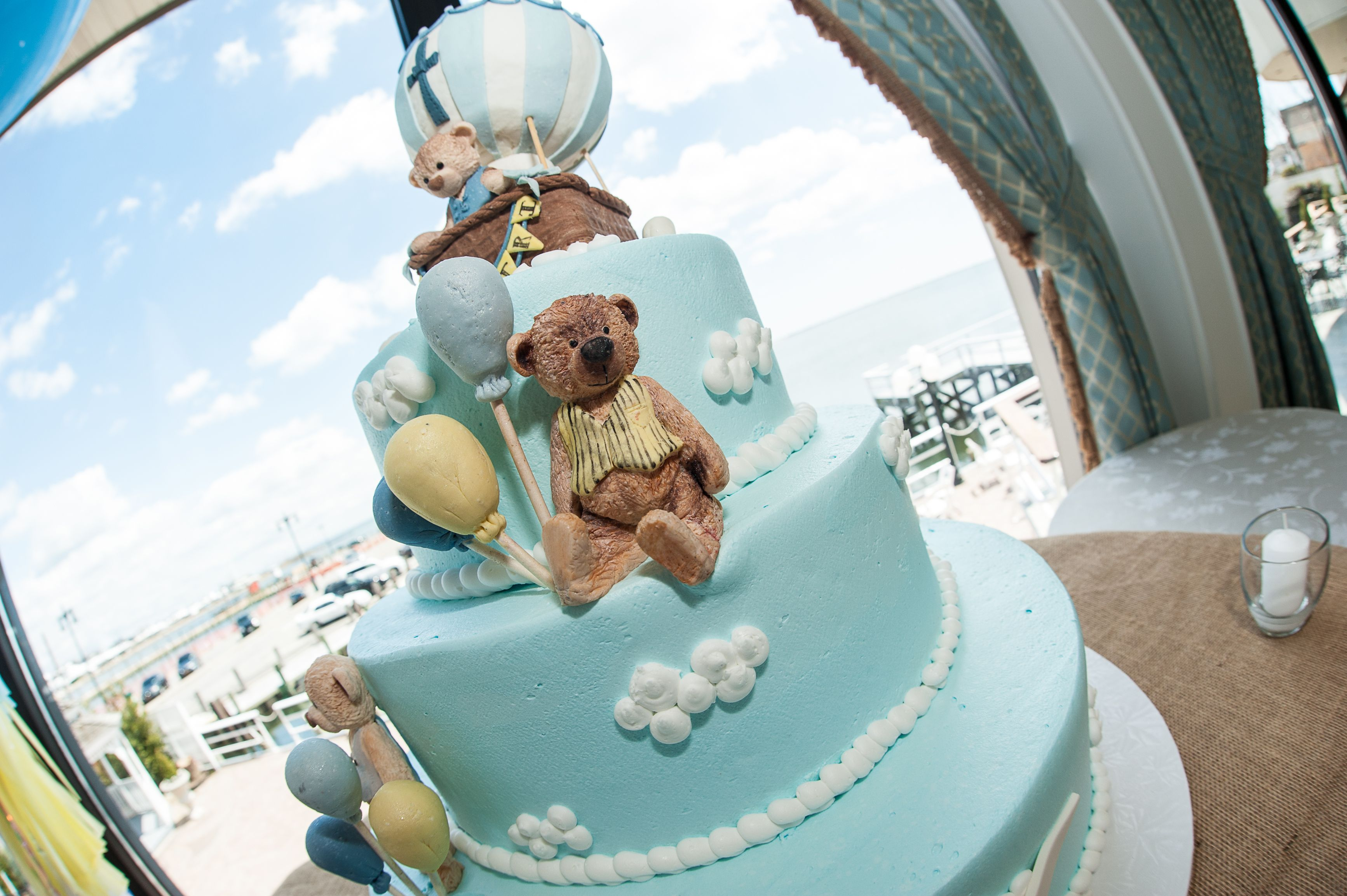 Hot Air Balloon Cake For Christening Or Baby Shower Or
