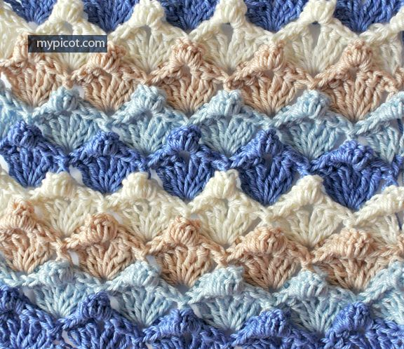 Textured Bubble Stitch Tutorial - (mypicot) | CROCHET- STITCHES ...