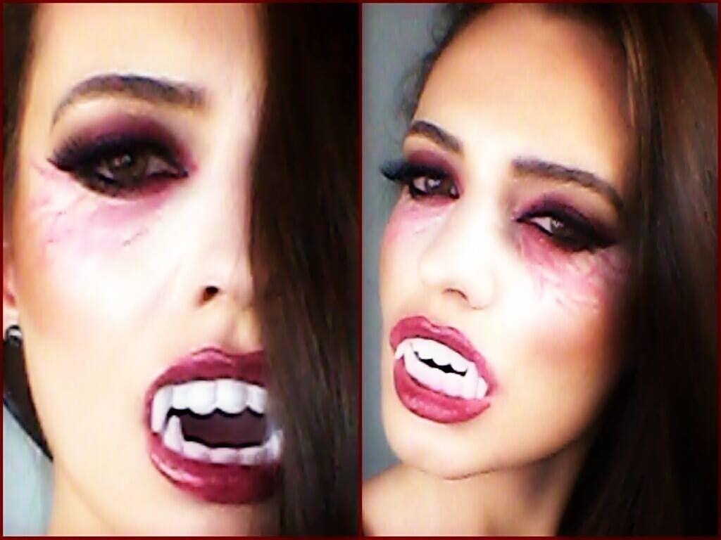 Awesome hot vampire halloween makeup appearance simple tutorial awesome hot vampire halloween makeup appearance simple tutorial appearance beauty dark baditri Image collections