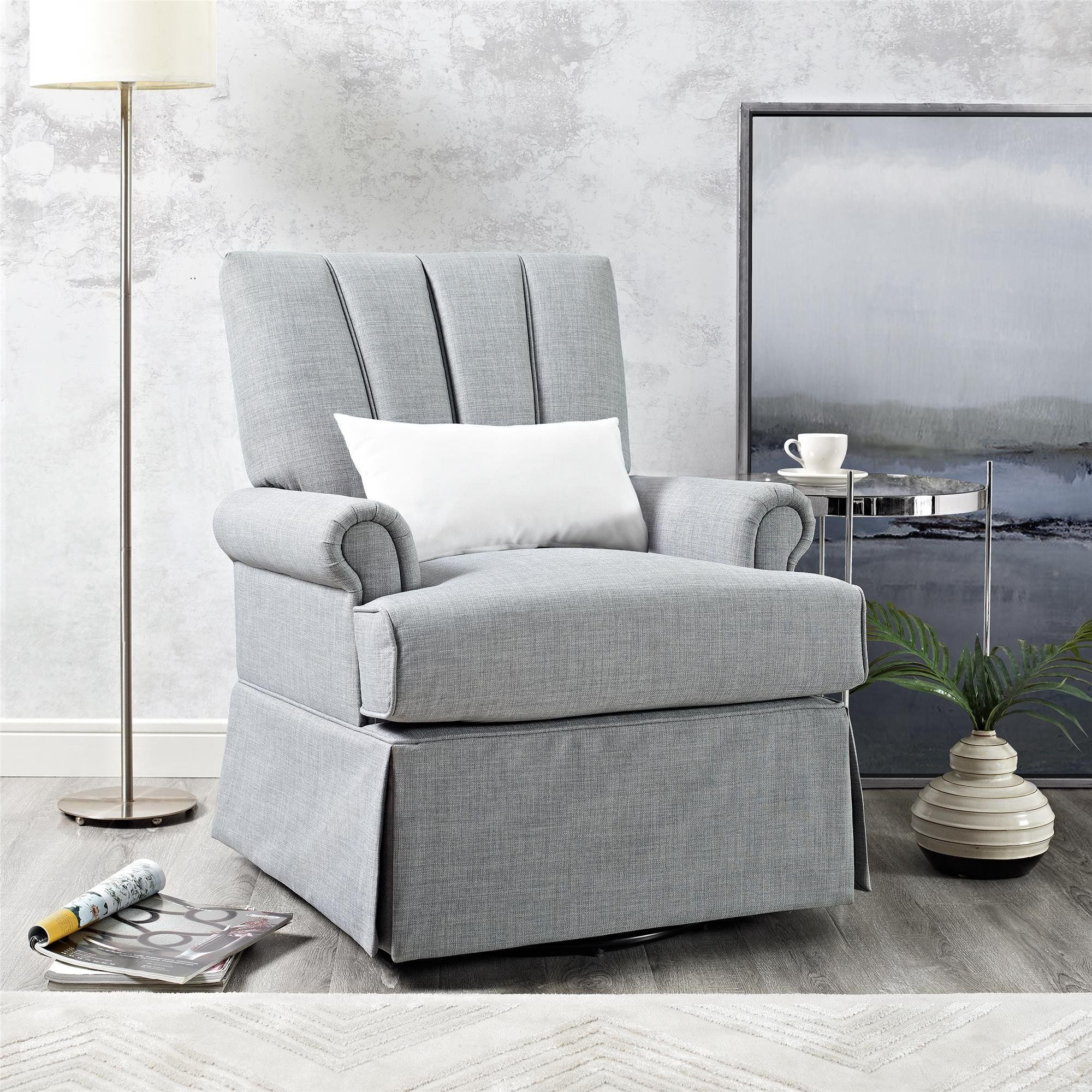 Baby Relax Parsons Swivel Glider Dove Gray *** You can