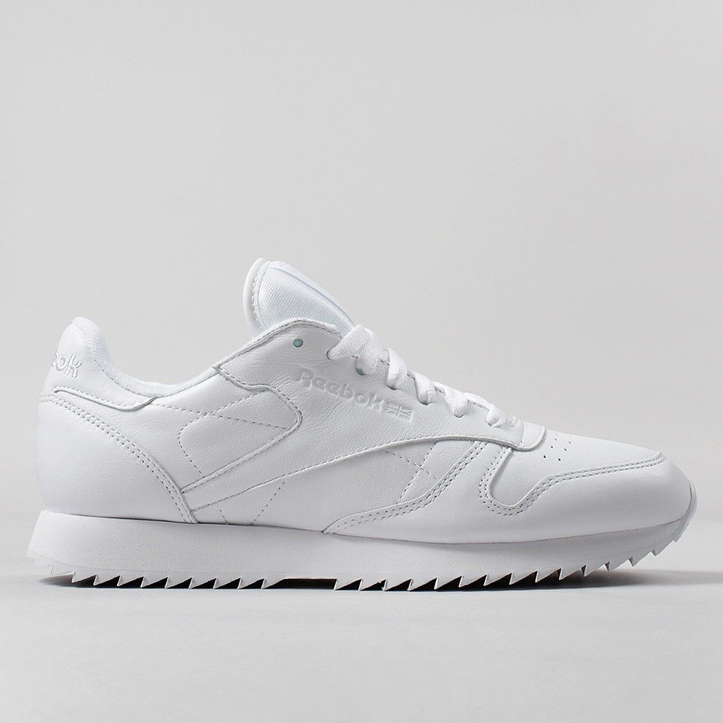 a8c49bcf821 Reebok Classic Leather Ripple Mono Shoes - White