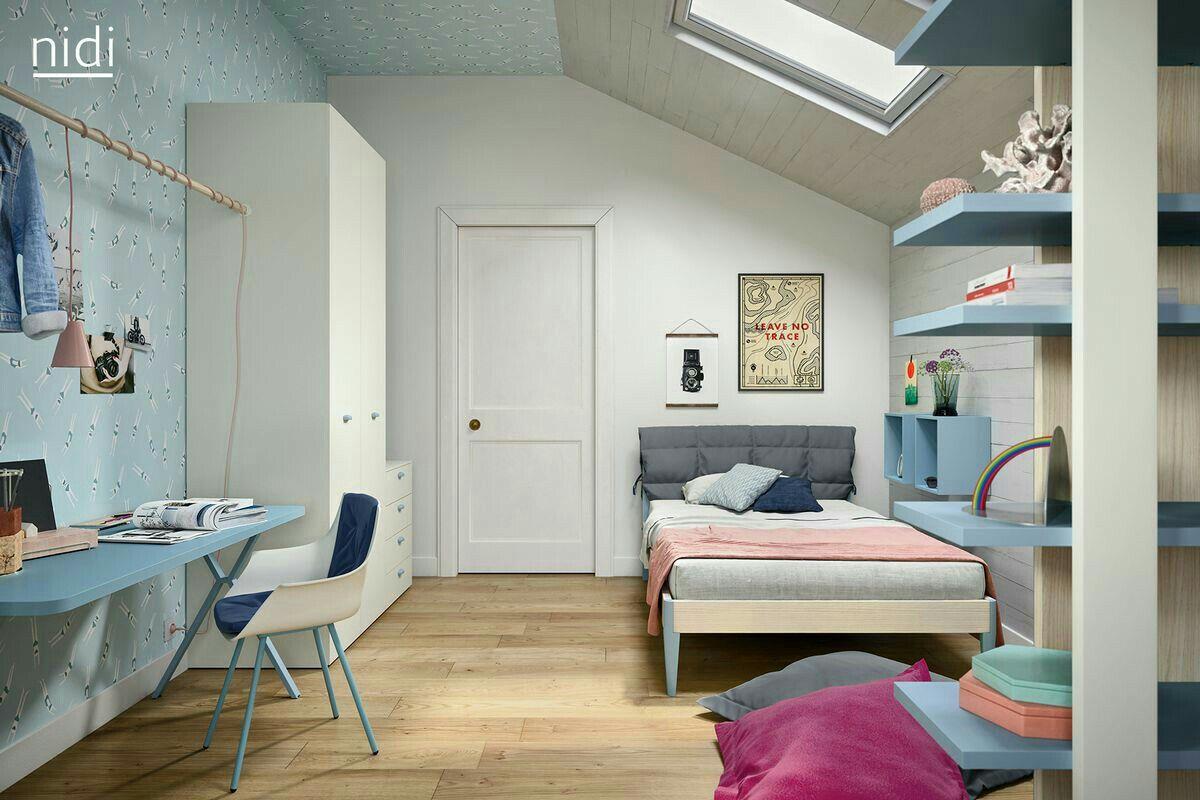 Mobili Nido ~ Dormitorio juvenil cama nido con escritorio antaix origami