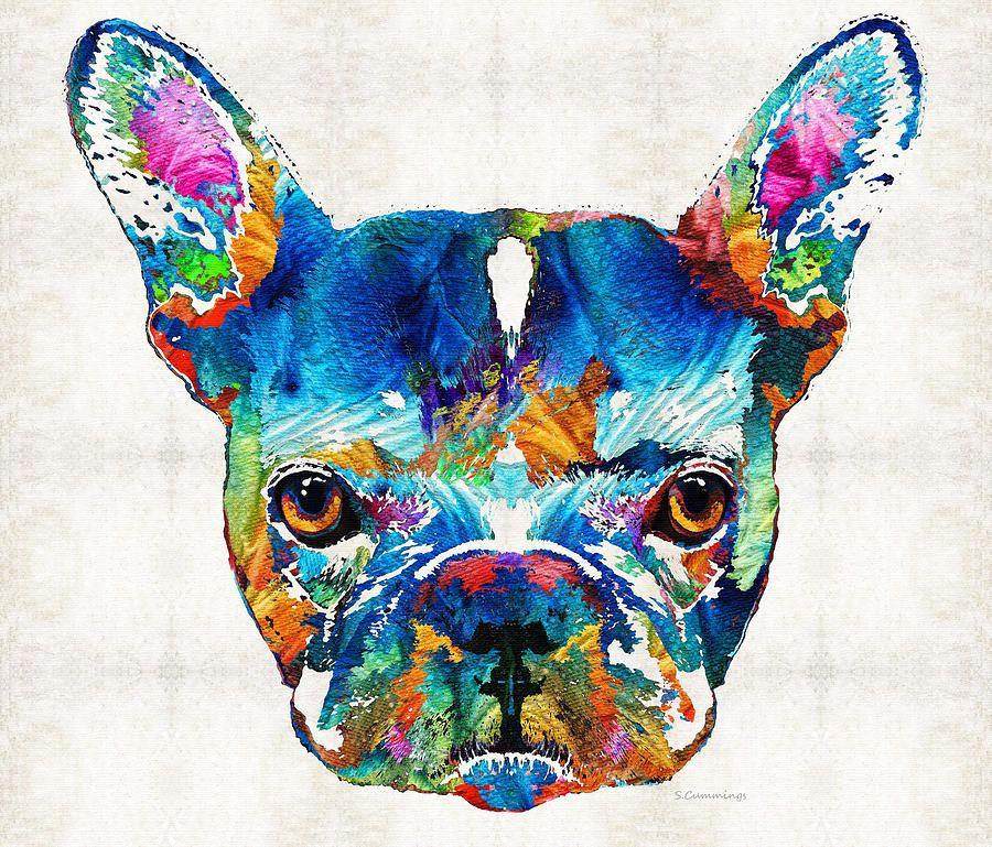 Colorful French Bulldog Dog Art By Sharon Cummings