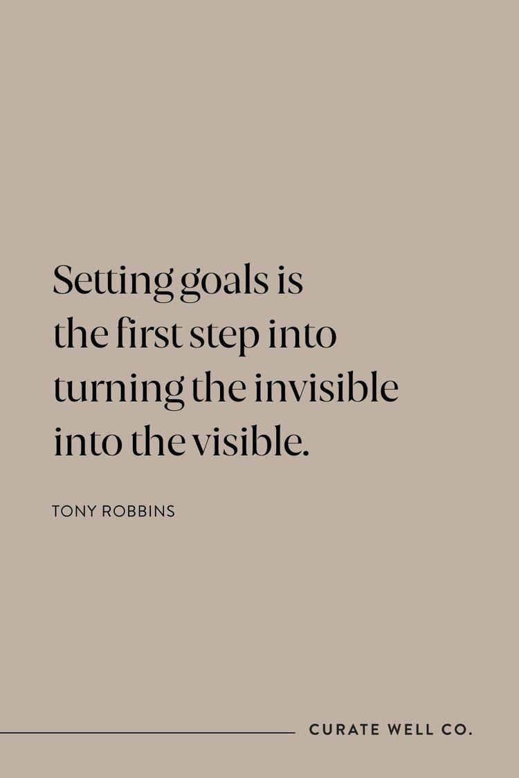 Inspiring Quote   Setting Goals