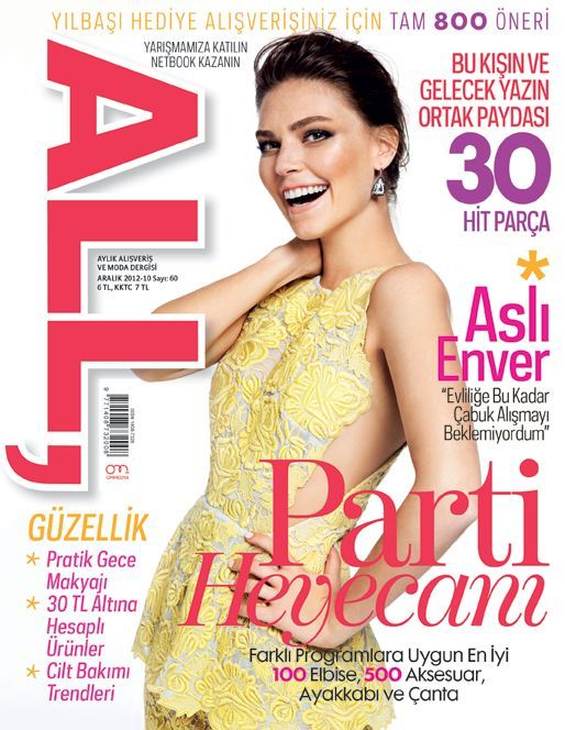 Asli Enver - All Magazine Cover [Turkey] (December 2012)