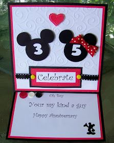 My Happy Place My 35th Anniversary Card Anniversary Cards Wedding Cards Handmade Cards Handmade
