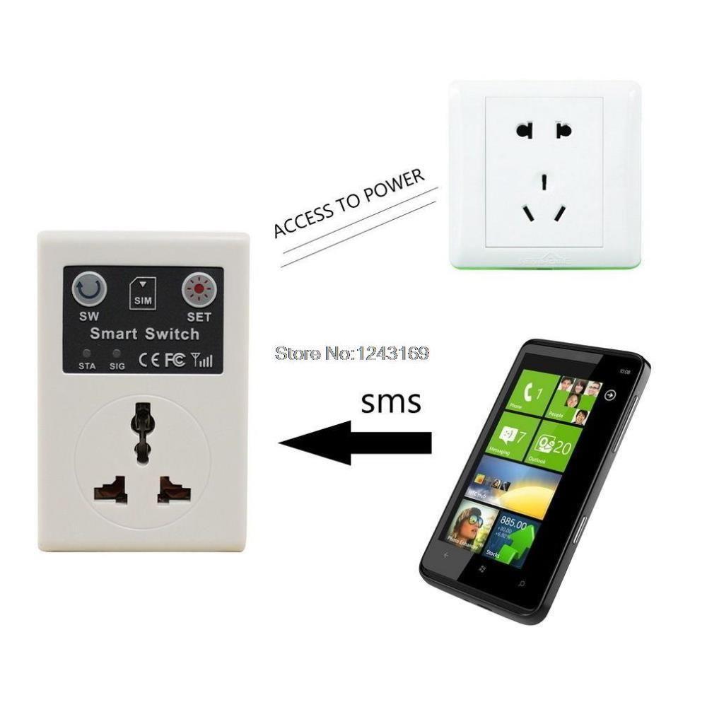 Smart GSM Switch Power Socket Phone Remote Control Electrical Appliances EU Plug BC312-SZ