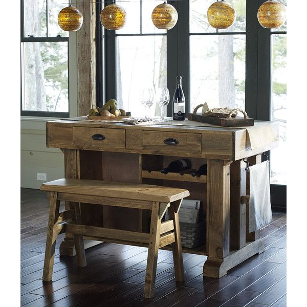 L L Bean Rustic Wooden Gathering Island   1 199    liked on Polyvore  featuring home. L L Bean Rustic Wooden Gathering Island   1 199    liked on