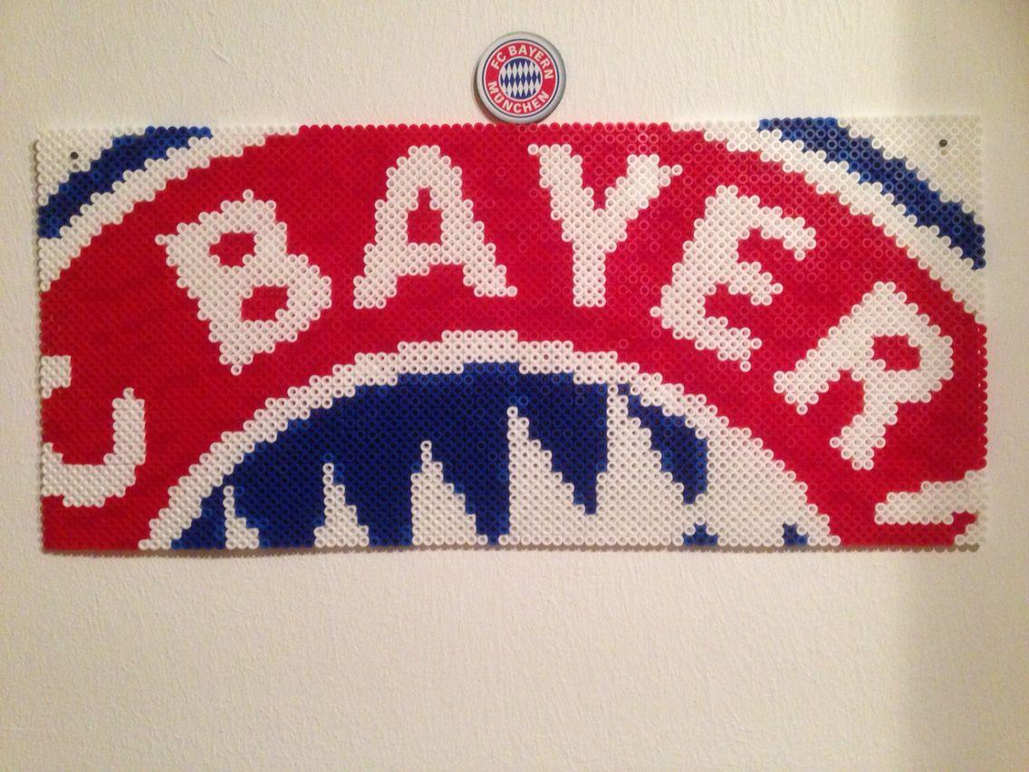 Fc Bayern Munich Fan Art Perler Hama Beads Pixel Artt Youtube