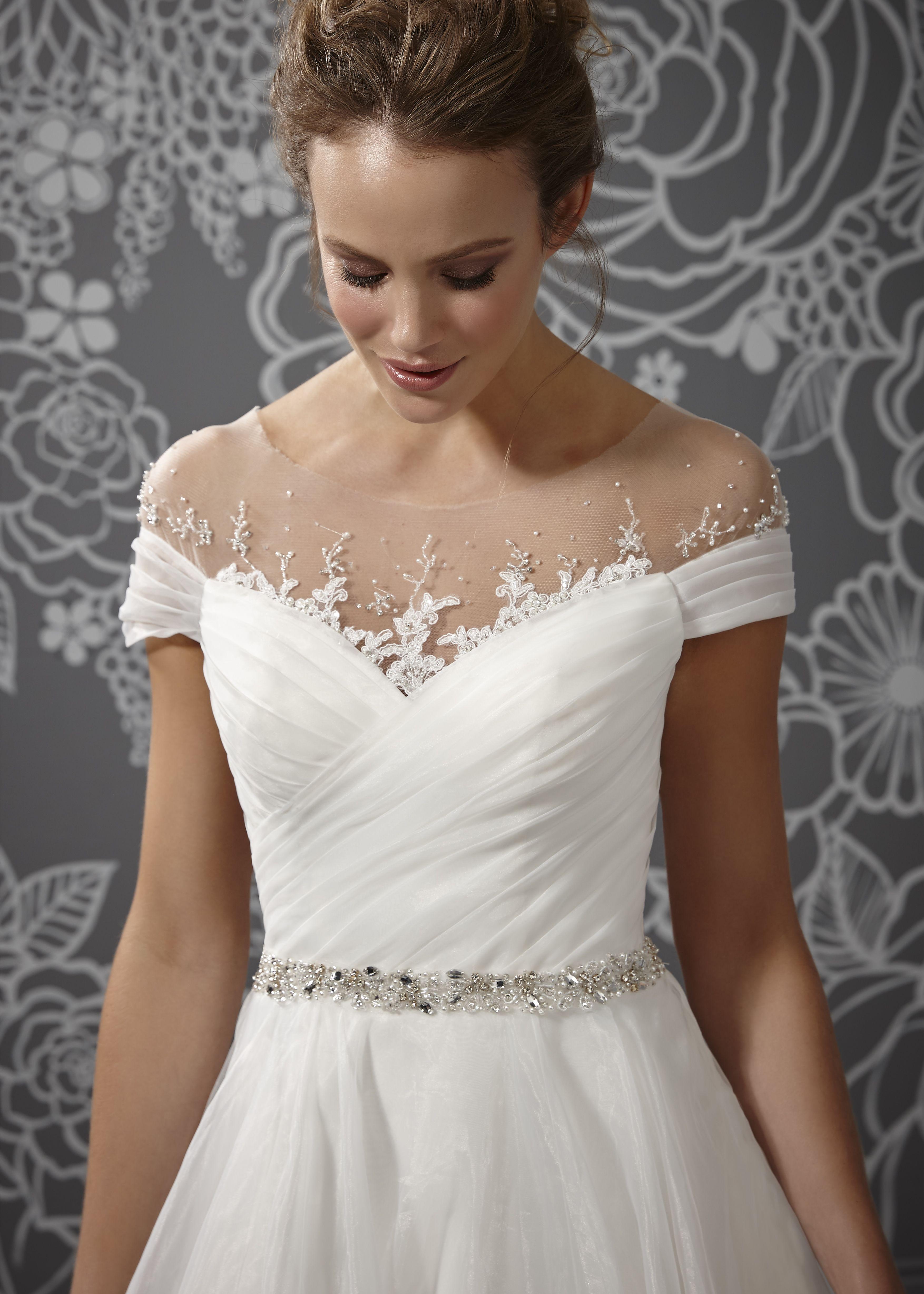 Romantica of Devon Layla bodice Glamourous wedding