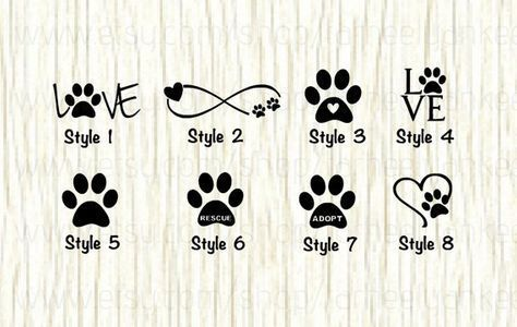 Love Paw Animal Car Decal Dog Love Paw Word Decal Paw Infinity Decal Rescue Decal Adopt Decal Paw Love Decal Gifts for Animal Lovers  We all love our pets Show your love...
