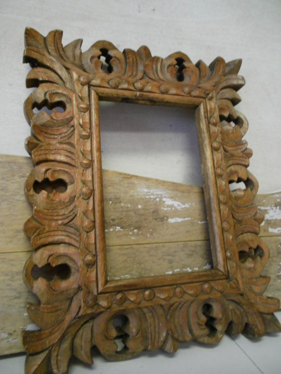 Vintage Wooden Carved Frame | Frame, Carving, Wooden frames