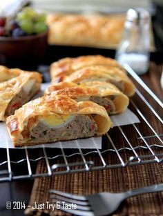 Just Try & Taste: Picnic Roll Daging Sapi-Ayam dengan Telur Rebus