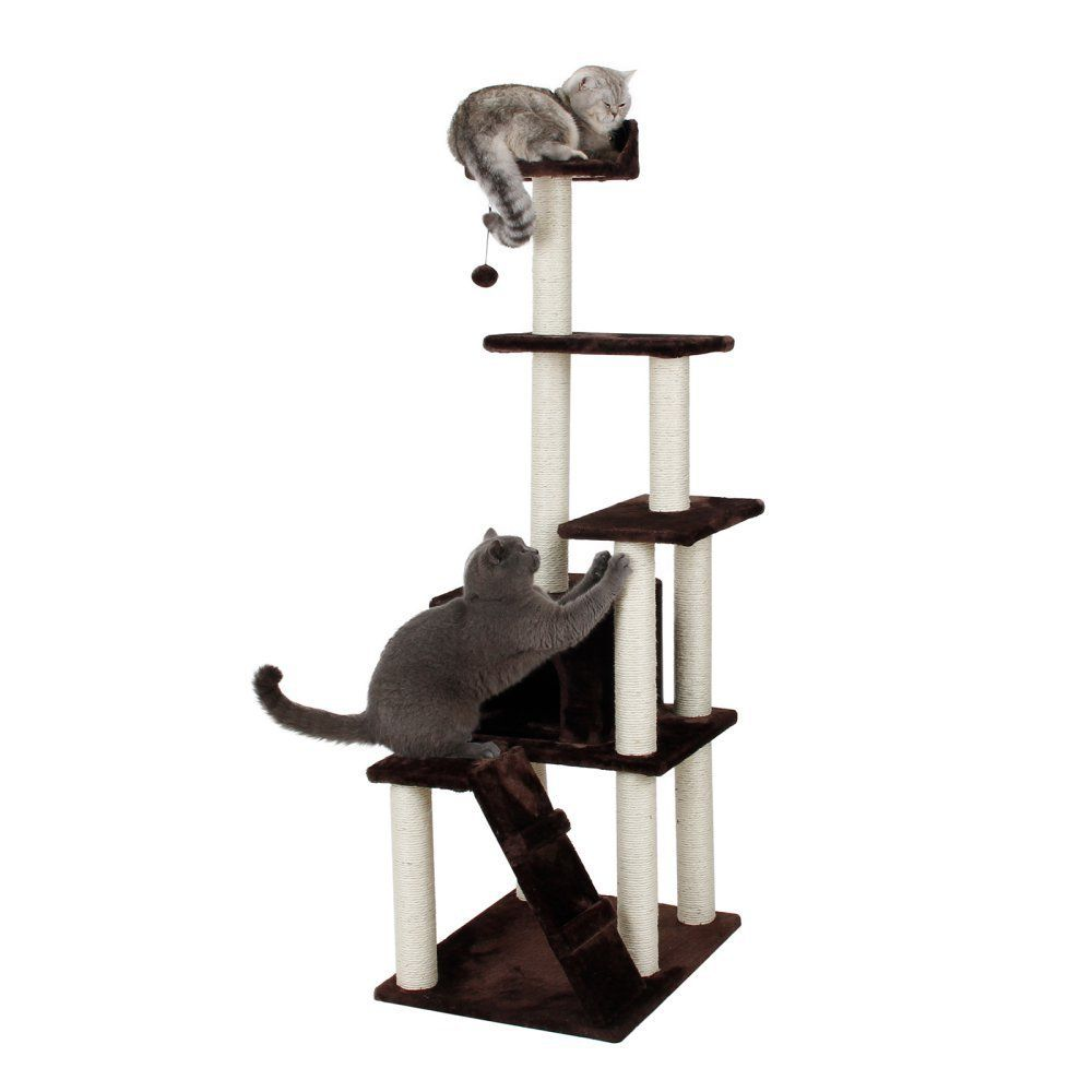 One Source International 62 In Cat Condo Playset You Can Get More Details Here Cat Scratching Post Cat Condo Cat Scratching Post Stylish Cat Tower