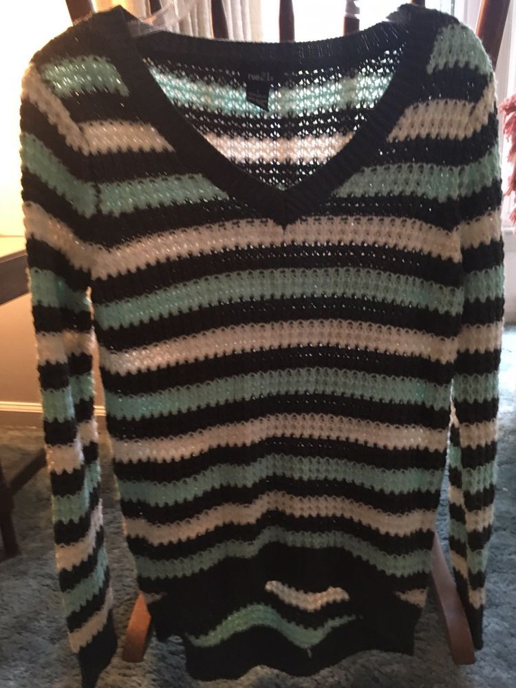 a170776fc6 Womens Rue 21 Gray White Green Sweater Sz L NWOT  fashion  clothing  shoes   accessories  womensclothing  sweaters (ebay link)