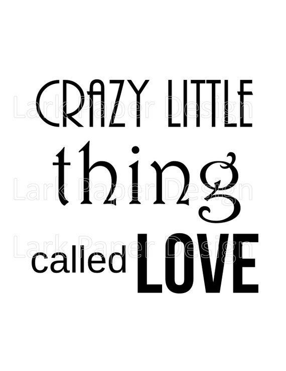 Crazy Little Thing Called Love, Digital Print, Queen Song