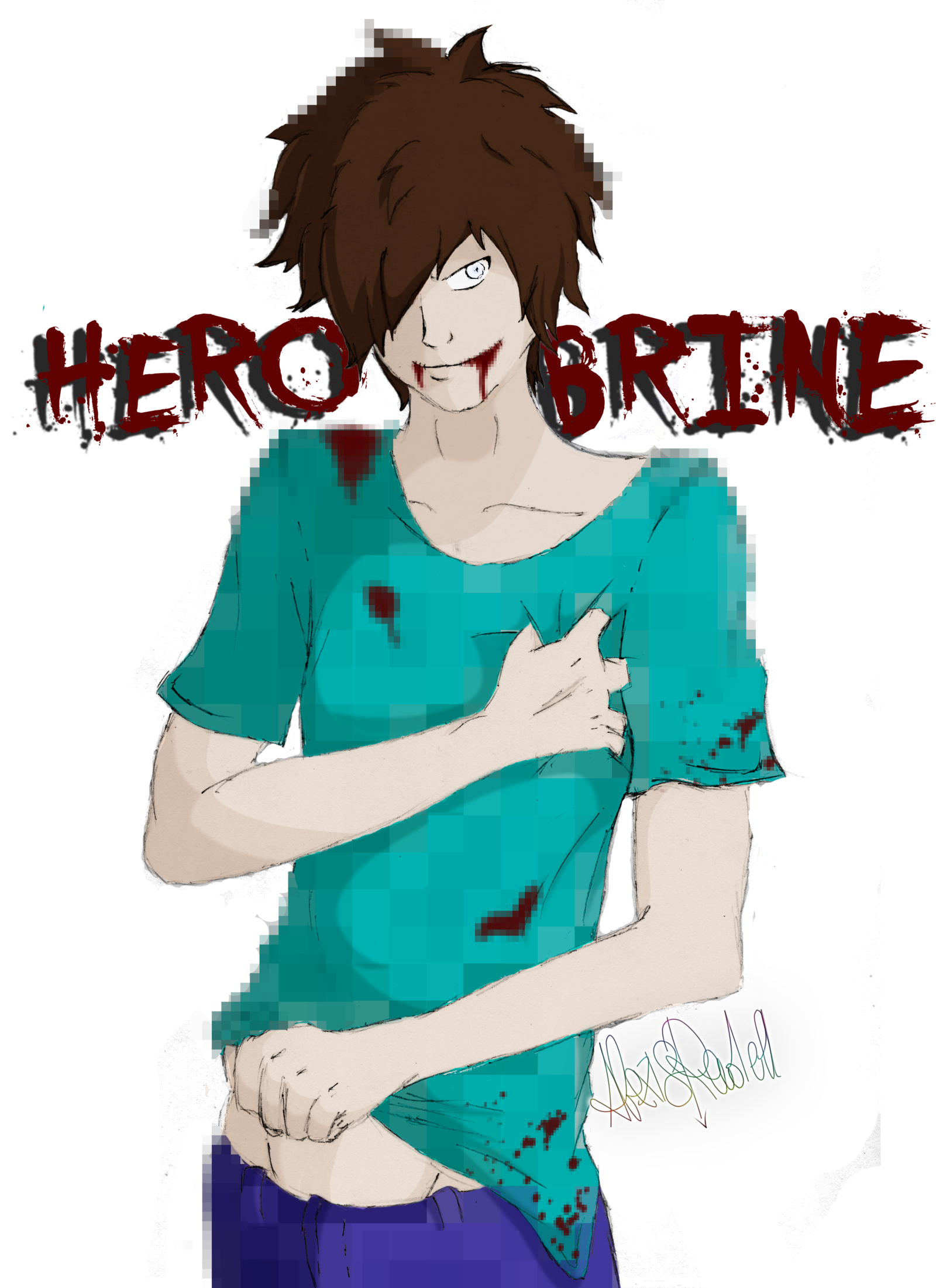 Herobrine from Minecraft he looks really good in anime