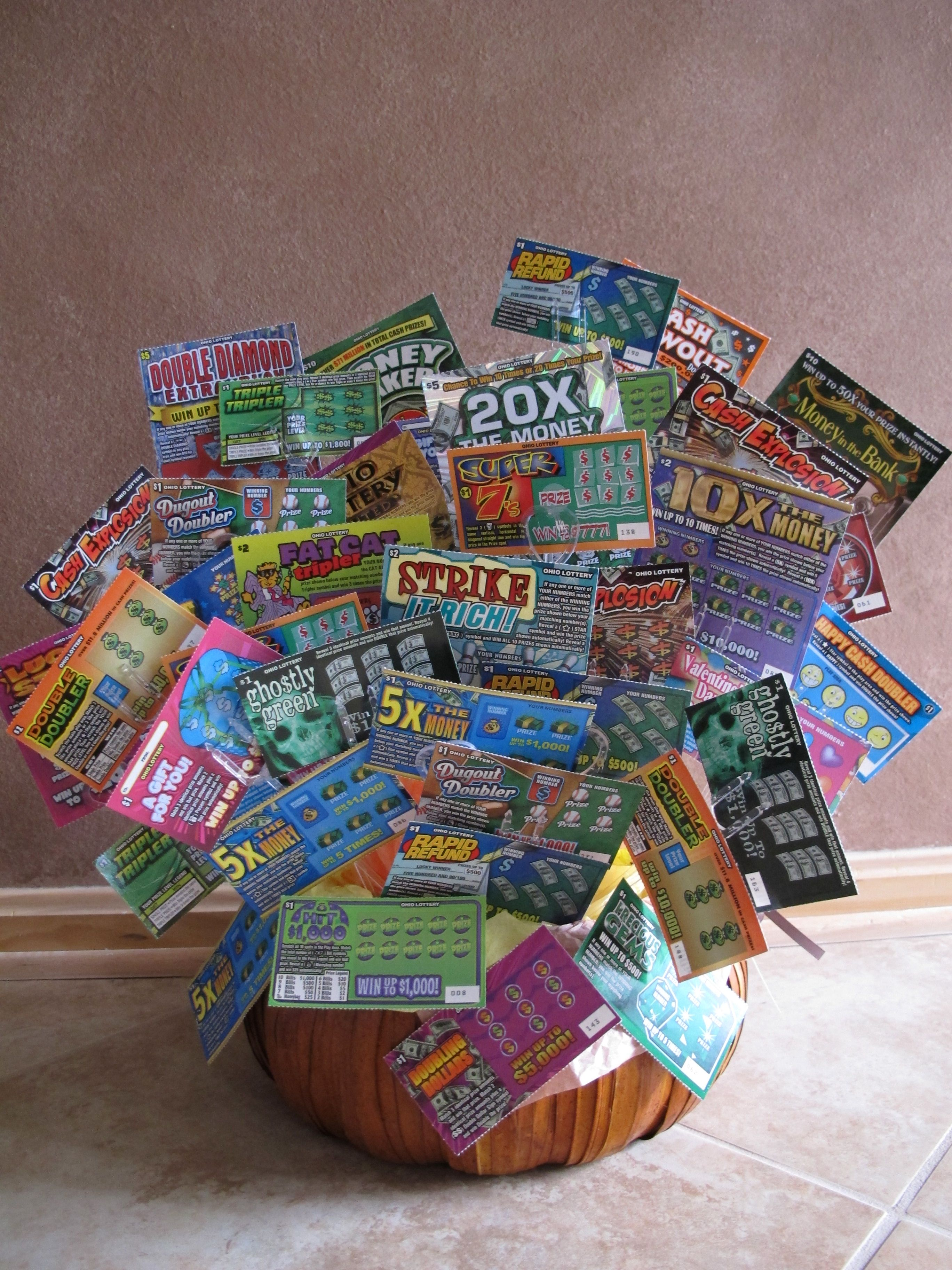 $100 00 Illinois Lottery Instant Ticket Basket just one of