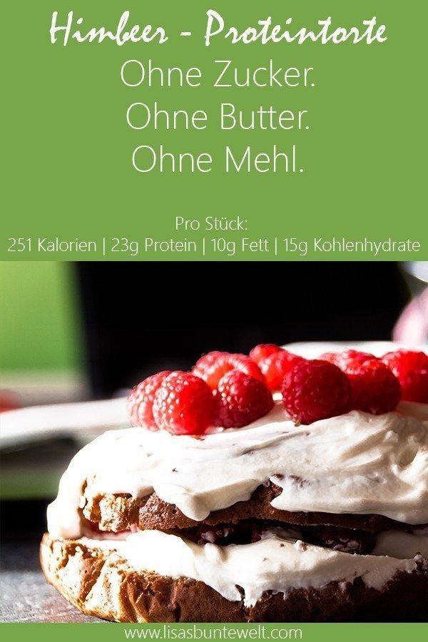 Fitness Rezept Fitness Rezept Fitness Rezept - Himbeer-Proteintorte ohne Zucker, Mehl und Butter.Gesund und Lecker.Schnelle Zubereitung mit nur wenigen Zutaten.Haferflock