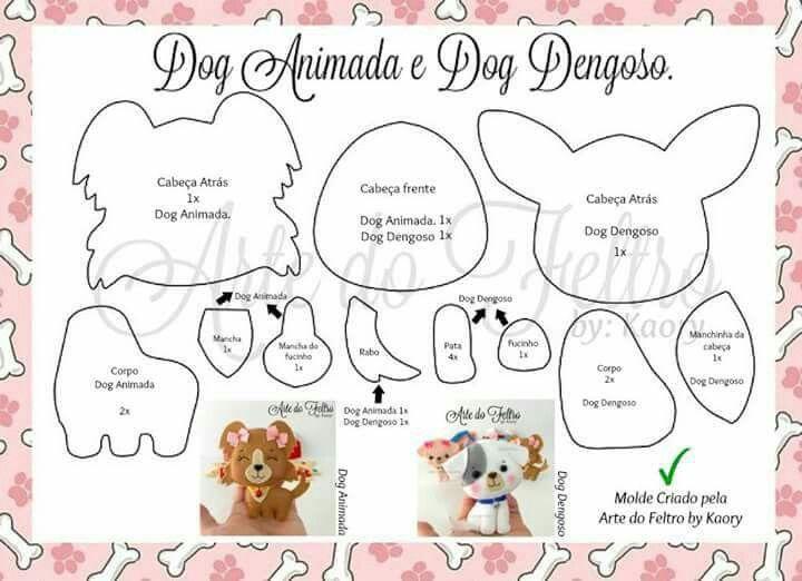 Molde cachorrinhos dogs pinterest dog felting and felt patterns content filed under the dog toys taxonomy maxwellsz