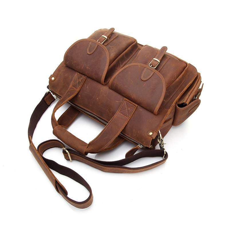 5a53c5c64f67 Genuine Leather Mens Cool Messenger Bag Work Bag Satchel Bag Briefcase –  iChainWallets