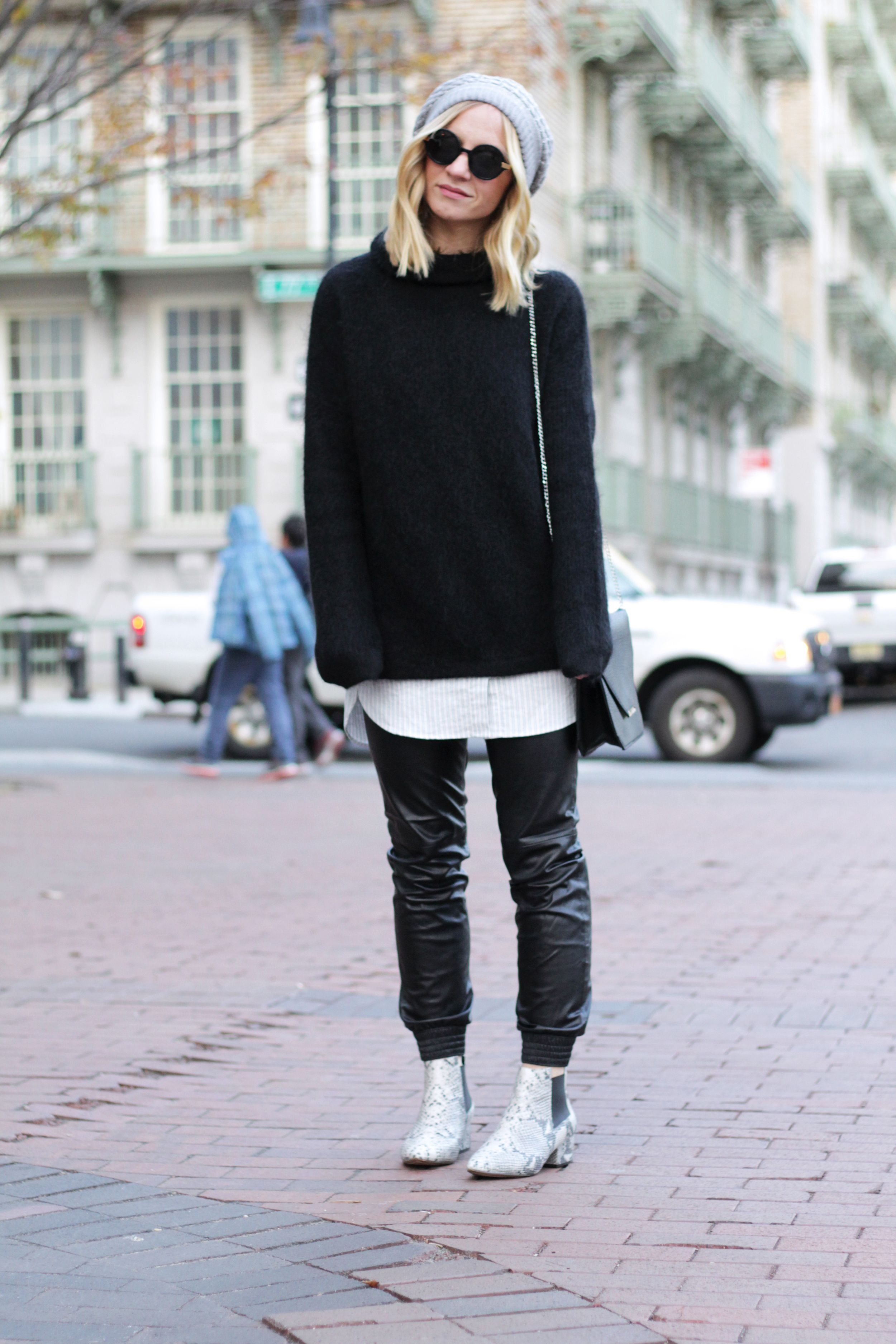 layers, outfit layering, oversized sweater — I Think, Therefore I Dress