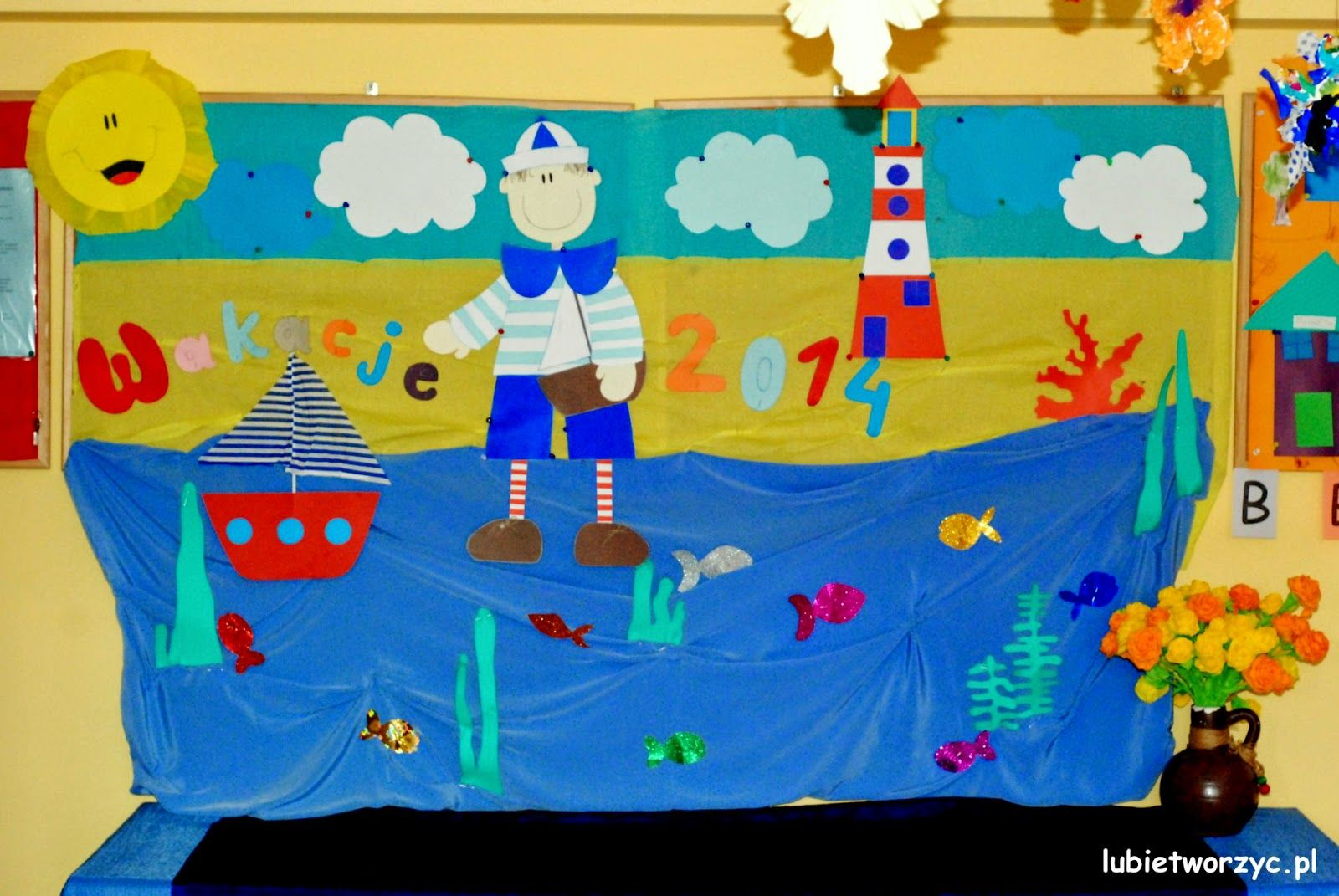 Morze Wakacyjna Gazetka Przedszkolna 1 Jpg 1600 1071 Country Flags Kids Eu Flag