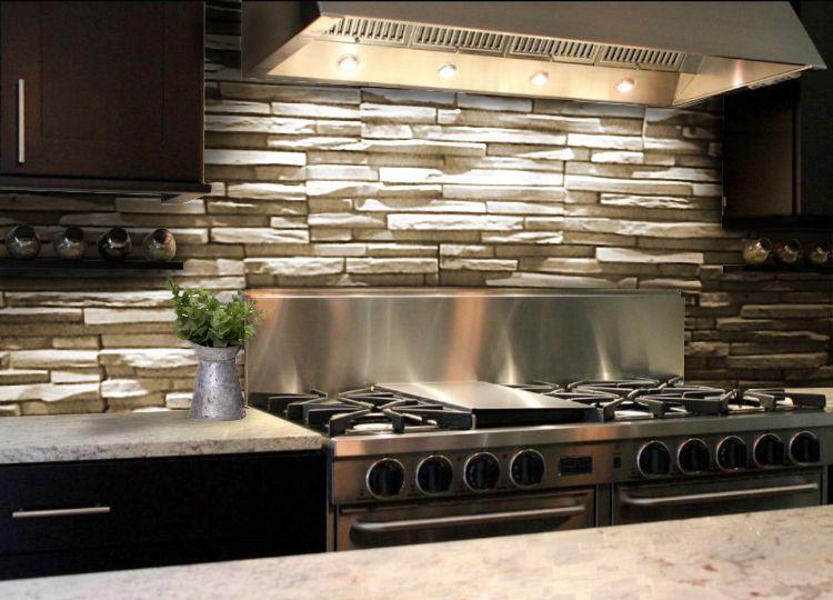 Revestimientos Rusticos Para Cocinas Deja De Lados Los Clasicos - Revestimientos-para-cocinas-modernas