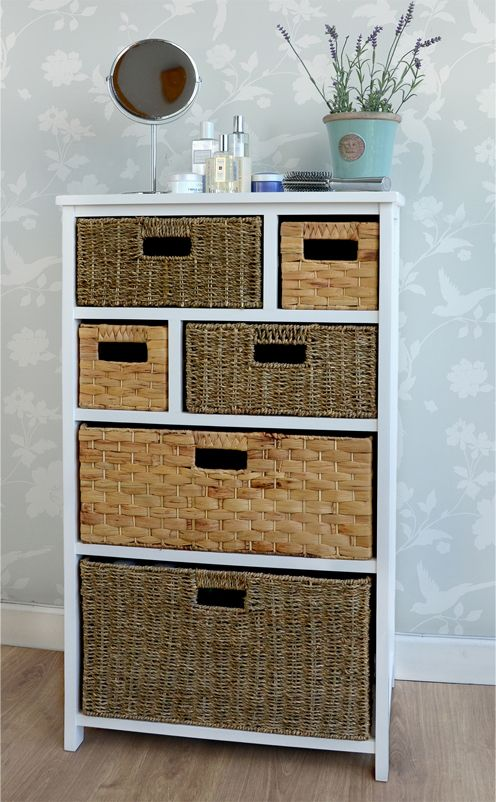 Smart Pine And Wicker Basket Storage From Our Truro Range