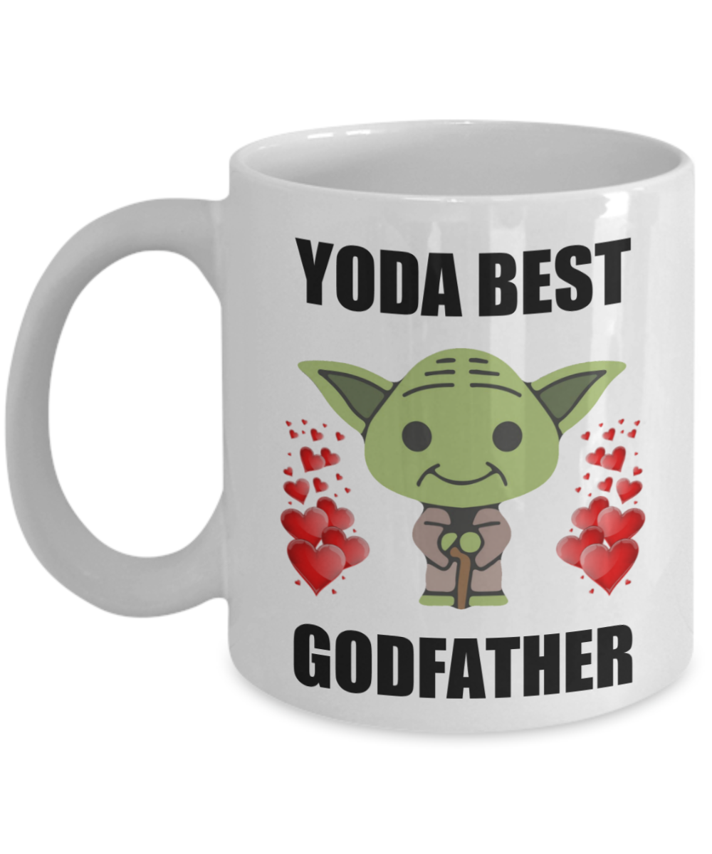Yoda Best Godfather Mug Birth Baptism Birthday Christmas