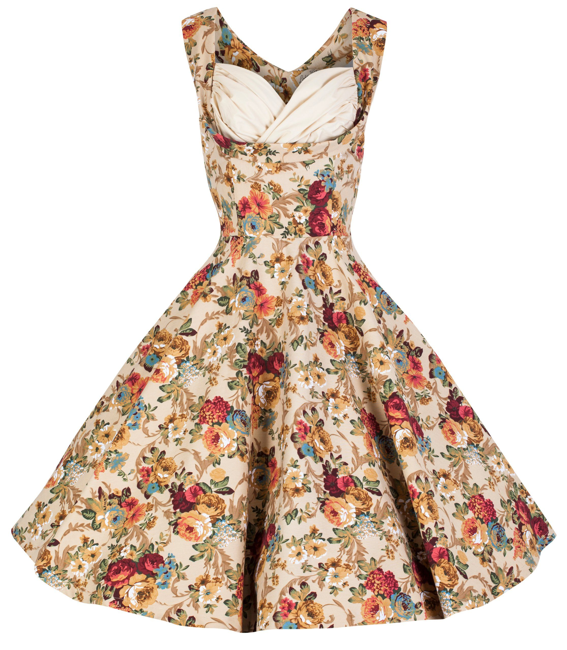 e7367b9ac898 Lindy Bop 'Ophelia' Vintage 1950's Floral Spring Garden Party Picnic Dress  at Amazon Women's Clothing store: