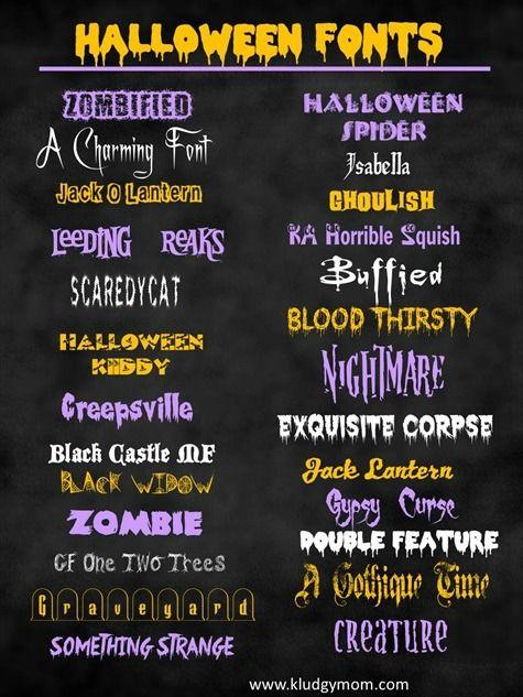 Halloween fonts - free fonts #bellestrategies #socialmedia