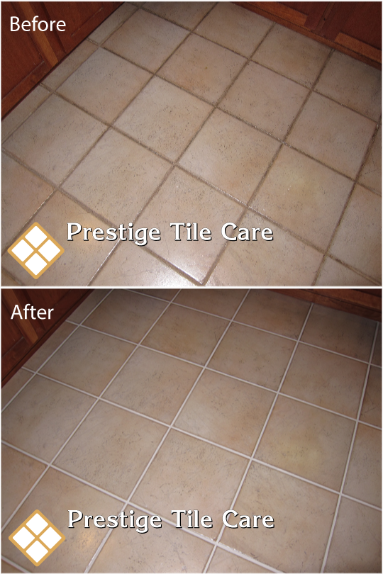 Cleaning Kitchen Tile Floor And Colorsealing The Grout Seattle