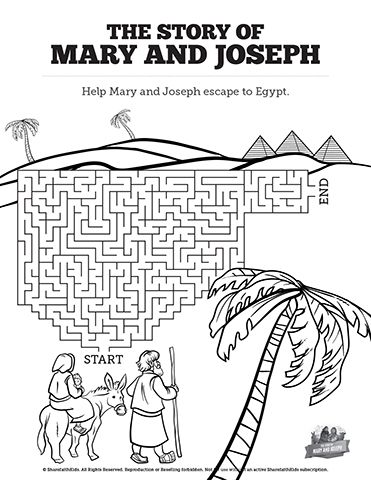 Luke 2 Mary And Joseph Christmas Story Bible Mazes Have Your