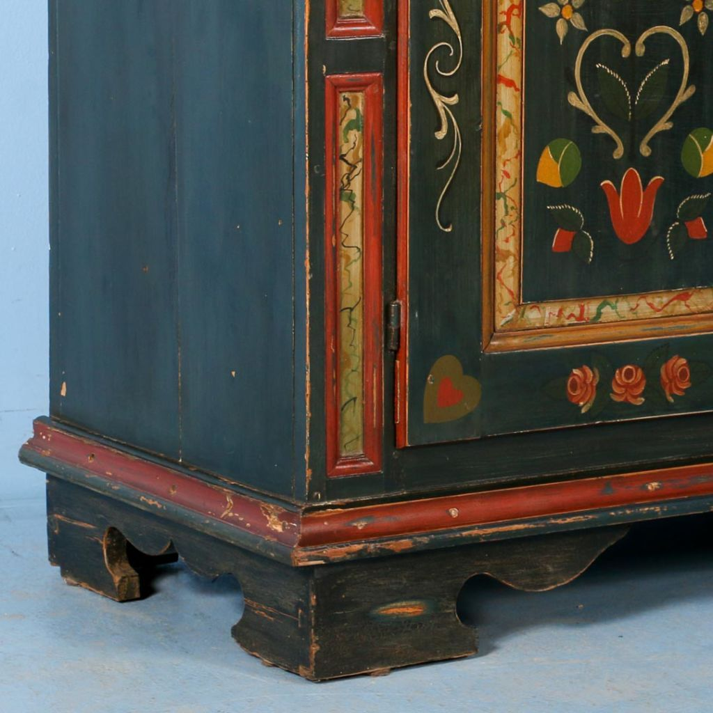Antique Original Green Painted Sideboard Denmark Dated 1915 Scandinavian Antiques More Antique Cabinets Painting Cabinets Antiques