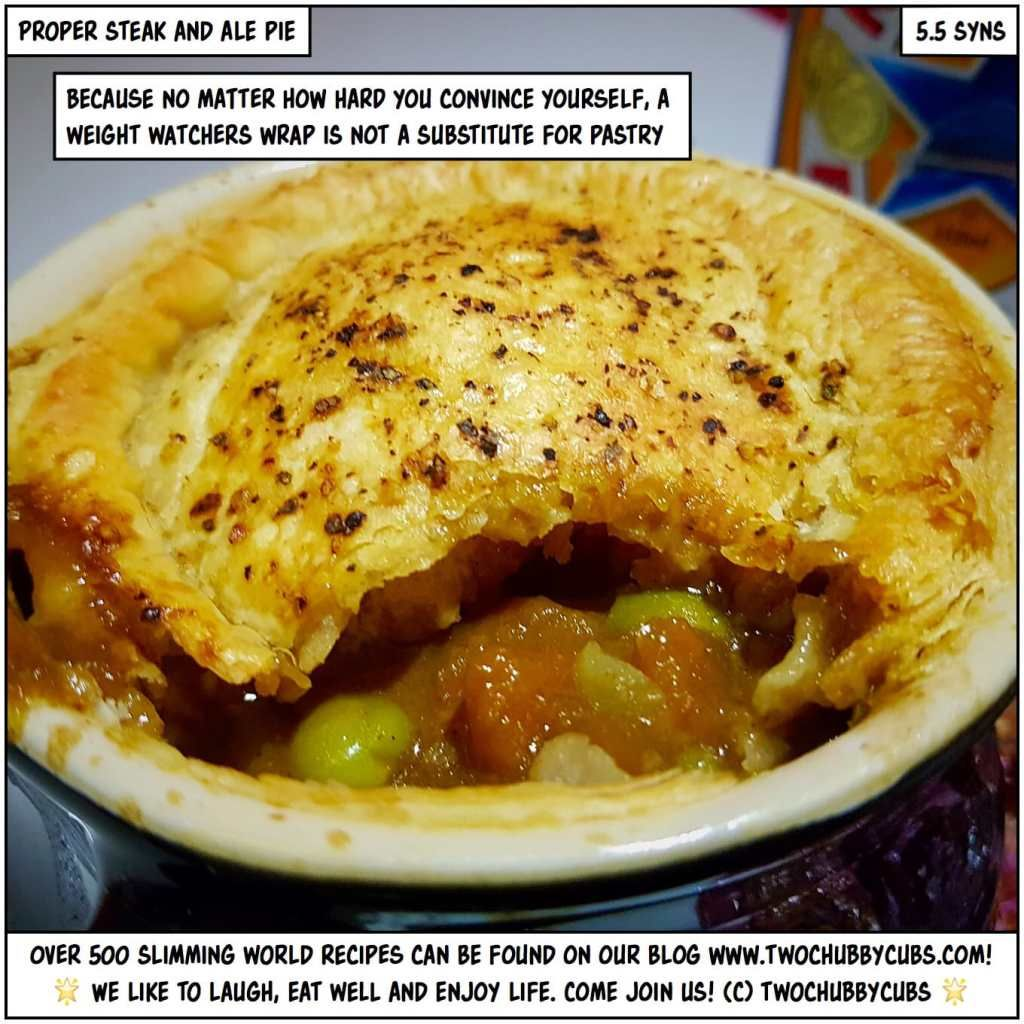 GORGEOUS LOW-SYN STEAK AND ALE PIE | Steak and ale, Ale ...