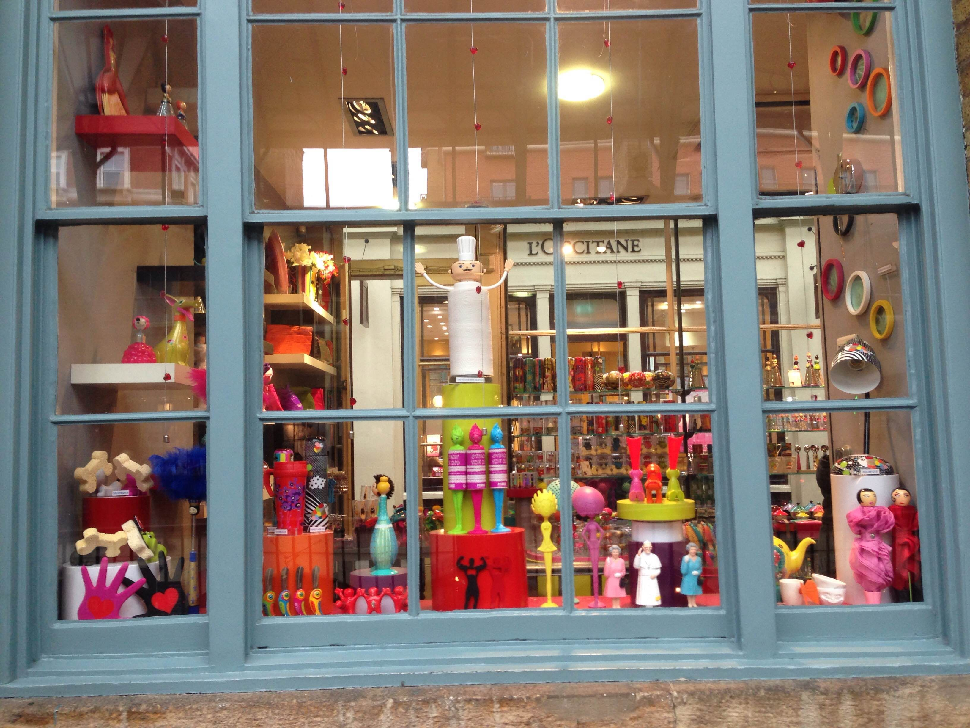 Pylones Covent Garden Piazza are sharing the love with their window display