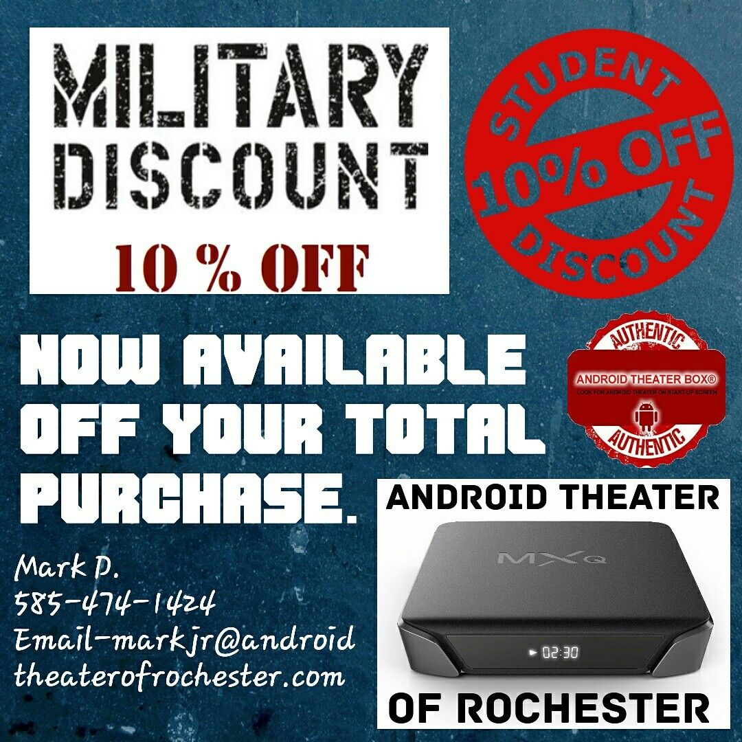 Student and Military Discounts available Military