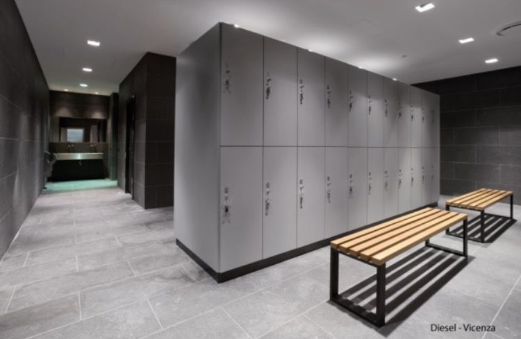 Changing / Locker Room | Lockers, Locker designs, Yoga room ...