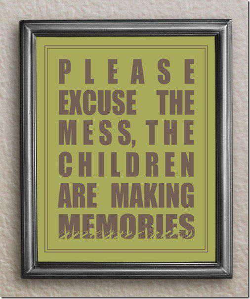 this should be hung somewhere above my grandchildrens dining room tables