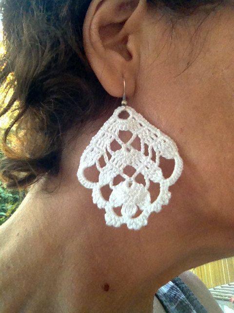 PDF Tutorial Crochet Pattern...Dangle Earrings -6 | pendientes ...