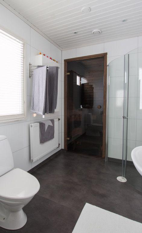Bathroom Plumbing 101 Interior melatar (4h+k+s, 101,5 m²) | kylpyhuone ja sauna | pinterest