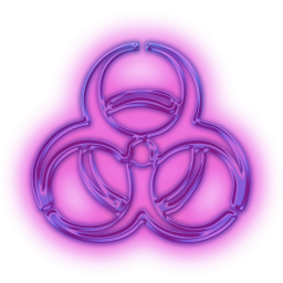 warning biohazard icon 113982 toxic pinterest neon